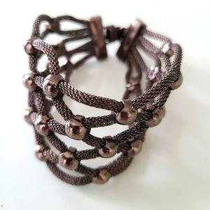 Brown String and Beaded Bracelet